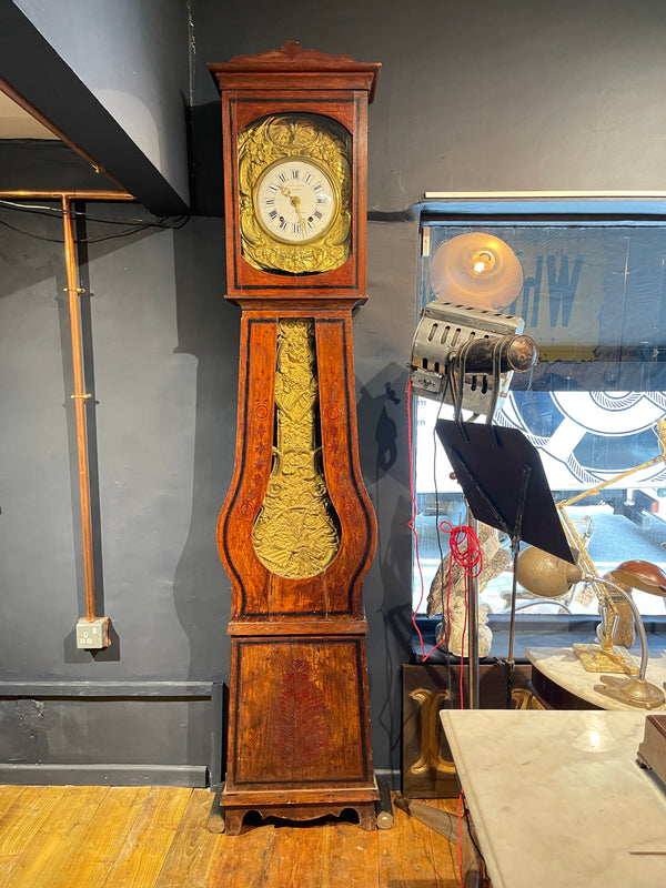 Antique Continental Comtoise Morbier French Tall Case Clock