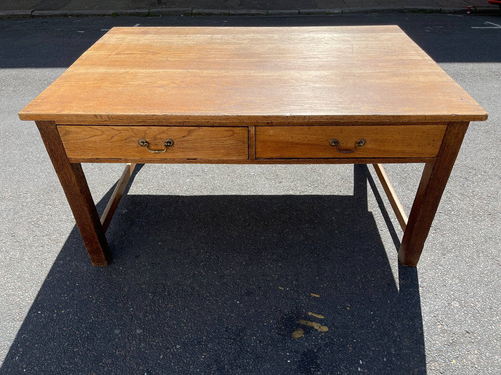 Antique oak double sided kitchen table
