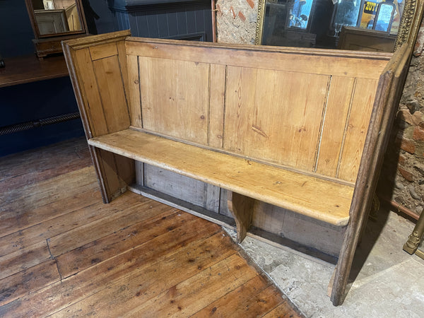 Antique Pine Hallway Pew Bench Seat