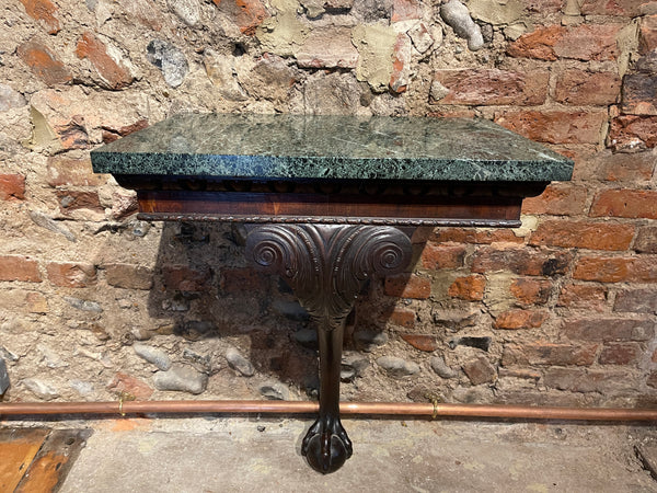 Chippendale Irish Georgian Claw & Ball Foot Console Table