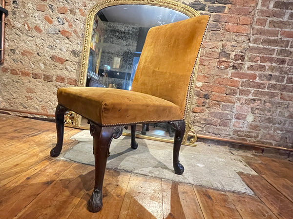 Early Georgian Chippendale Library Chair