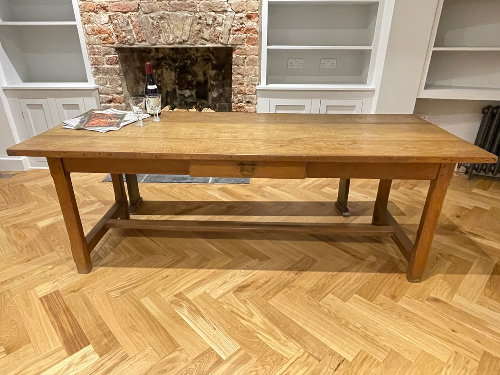 Antique French Oak Kitchen Refectory Dining Table