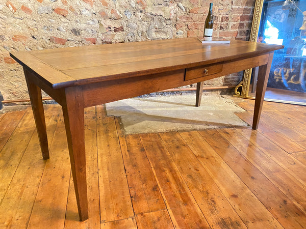Exceptional Large Antique French Oak Dining Table