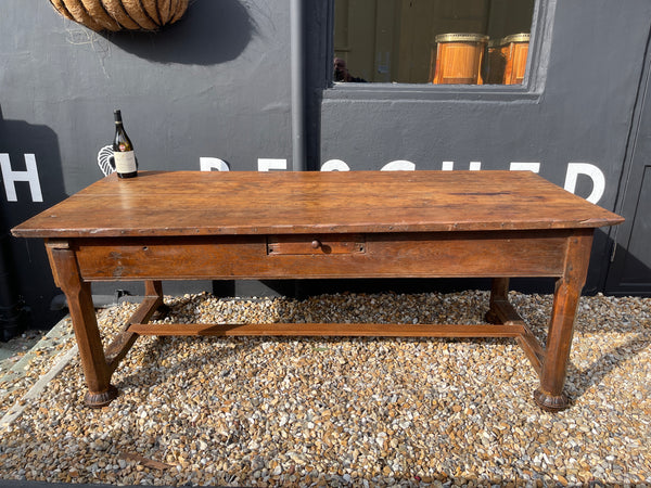 Original 1780's  Antique Oak French Monastic Dining Table