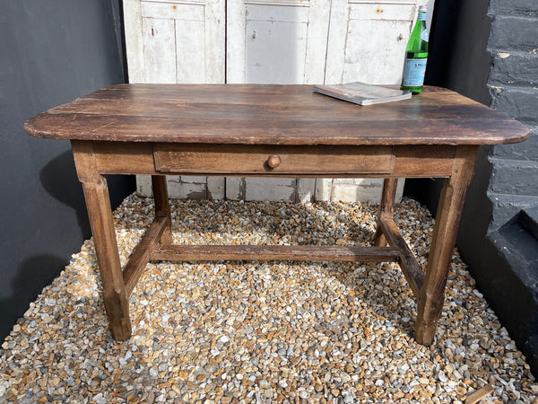 Exceptional Antique French Provincial Farmhouse Elm Dining Table