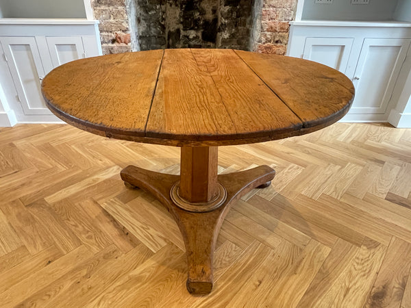 A rare provincial George I pine tilt top table Circa 1720