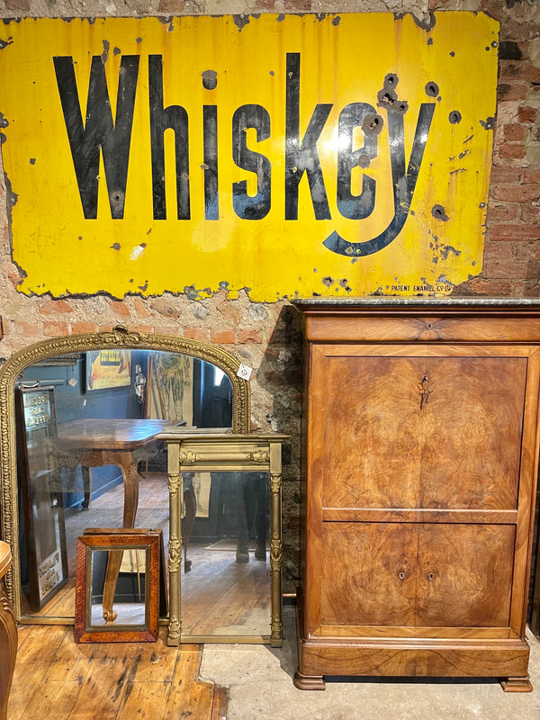 American Antique Enamel Whiskey Sign Wall Art