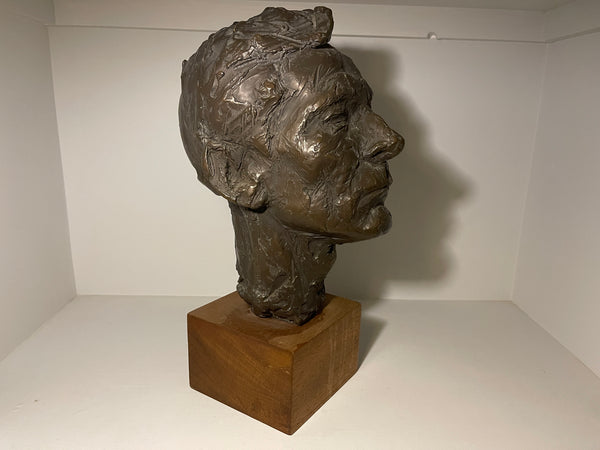 A Rare Sculptural Bust Of Actor  Kenneth Williams By Sought After Sculptor Irena Sedeckla