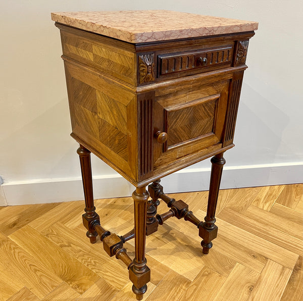 Antique French Rosewood Marble Bedside Bedroom Cabinet