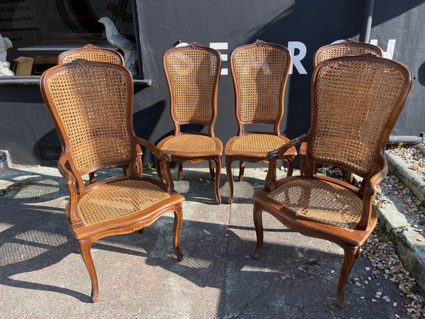 Antique French Cane Chairs