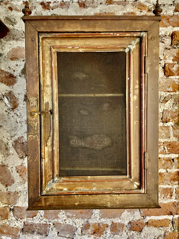 Antique Victorian Food Safe Shelf Cabinet