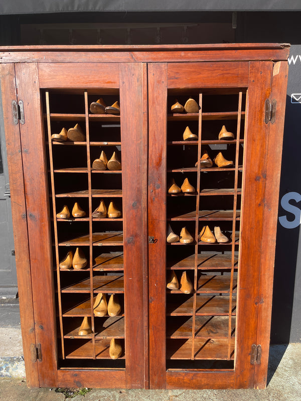 Antique Cobblers Shoe Cabinet Circa 1880