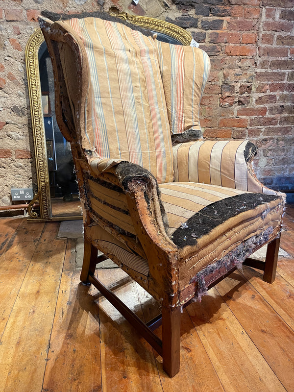 Georgian Wingback Library Chair