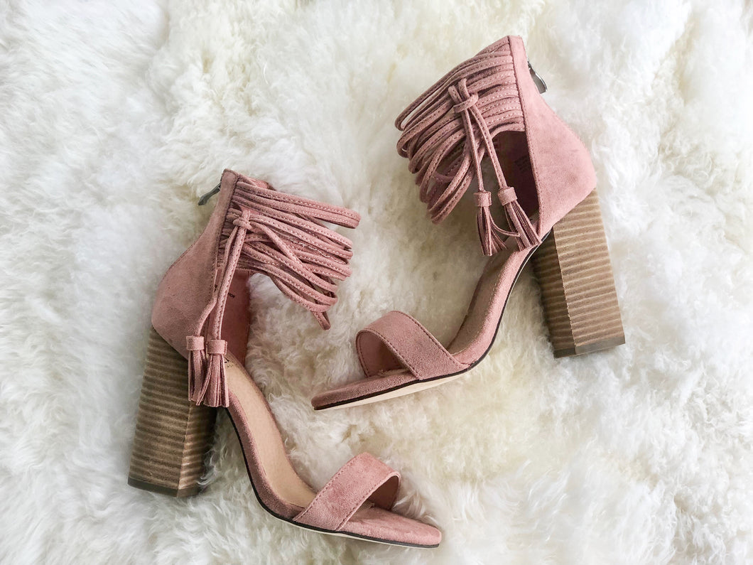 Blush Block Heel