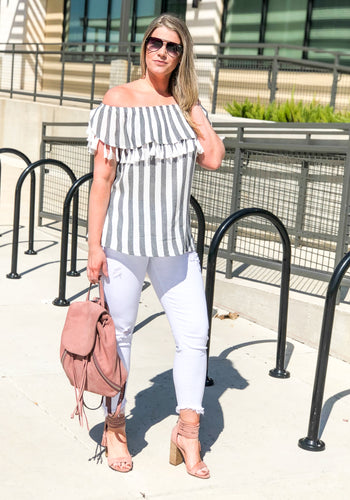 Tassel Me Striped
