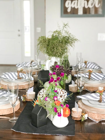 Fall Foliage Table spread