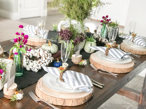 Fall Foliage Tablescape