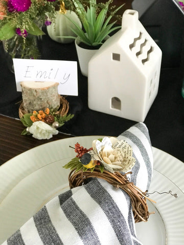 Fall Foliage place setting