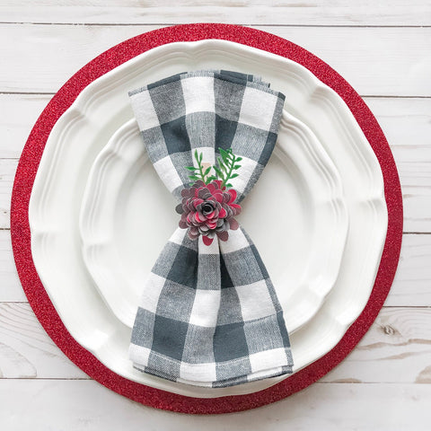 Use a Paper Flower Clip as a Napkin Ring