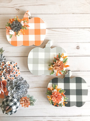 Buffalo Plaid Pumpkins