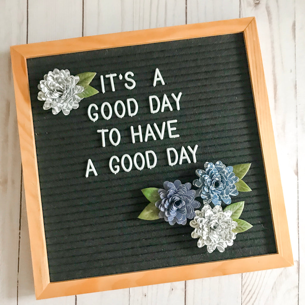 Night Sky Letter Board Paper Flowers
