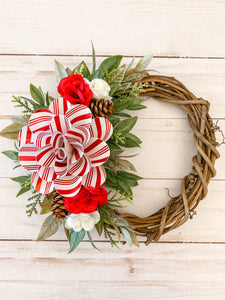 Red Flower Mini Wreath