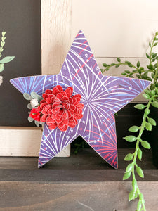 Large Fireworks Star Shelf Sitter