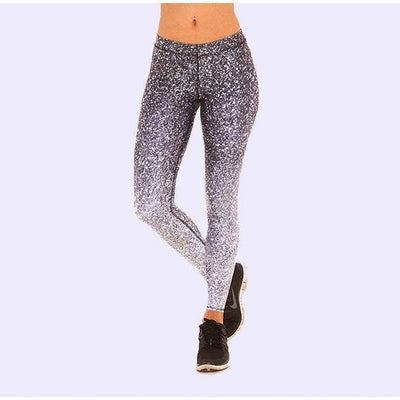 Black And White Glitter Legging-leggings-leggings-Indira Active