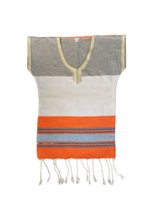 Kinder-Poncho 2 Jahre grau / orange - SPLENDITE