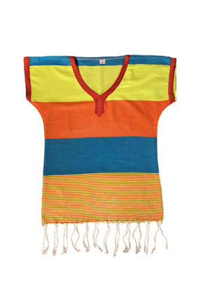 Kinder-Poncho 8 Jahre neon / orange / blau - SPLENDITE