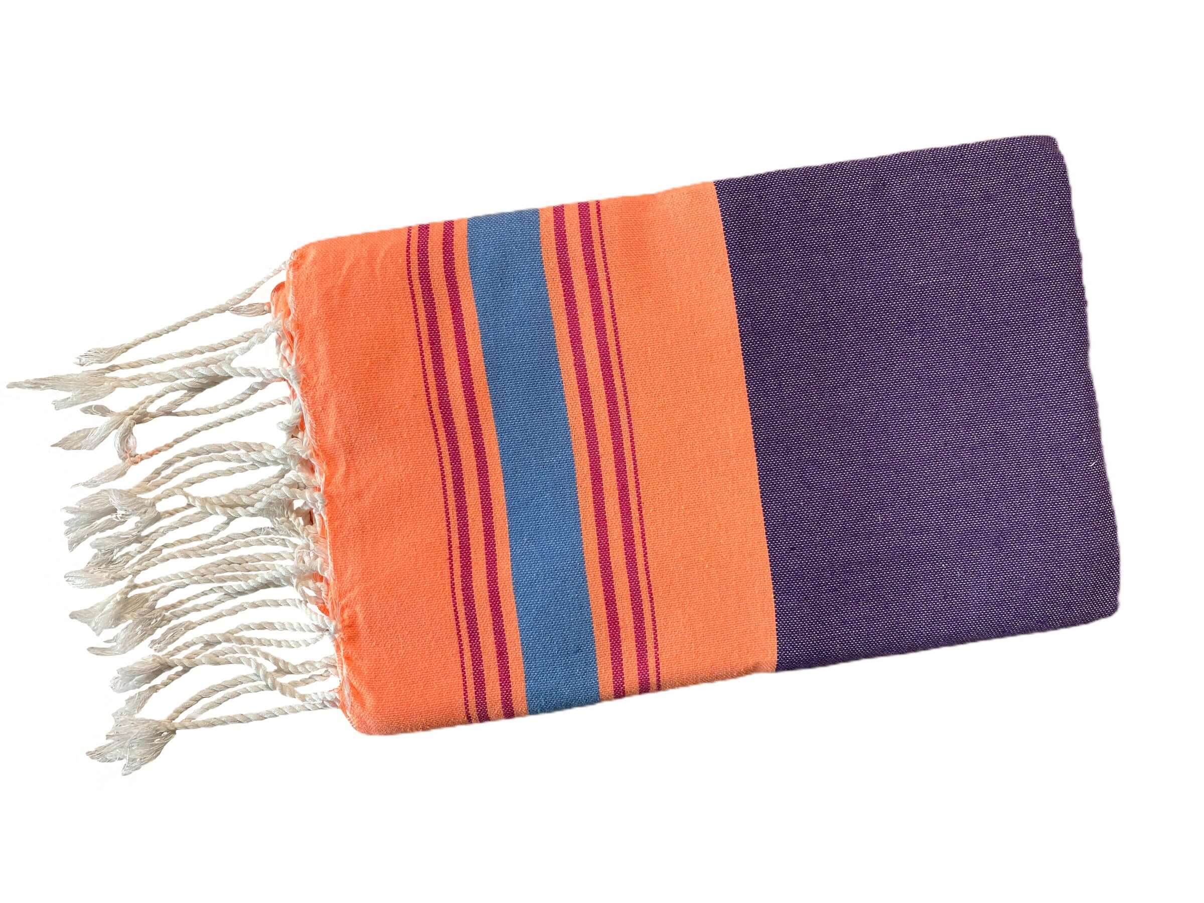 Fouta Fine Stripes orange-lila Splendite