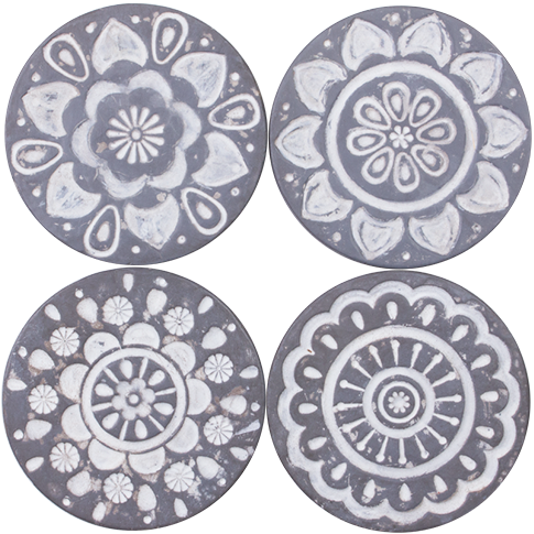 Coasters Resin- Mandala Circles