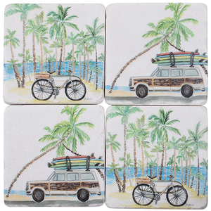 Coasters Resin - Roadtrip (set of 4)