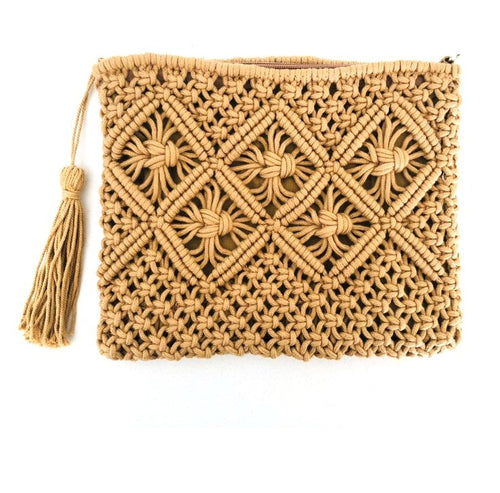 Clutch Bag LARGE - Straw - Bamlife
