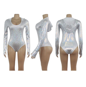 Hooded Holographic Bodysuit