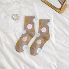 Load image into Gallery viewer, 5 Pair Polka Dot Cotton Comfy Socks