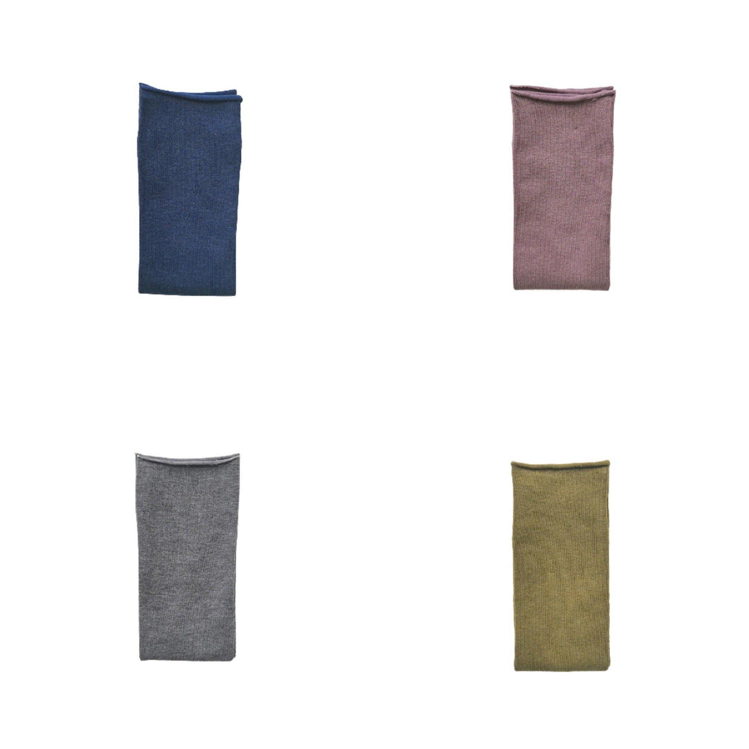 Solid Color Casual Cotton Blend Crew Socks