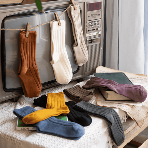 Ribbed Comfortable Warm Crew Socks - MoSocks