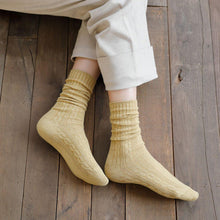 Load image into Gallery viewer, Solid Color Twist Angora Blend Thin Crew Socks - MoSocks