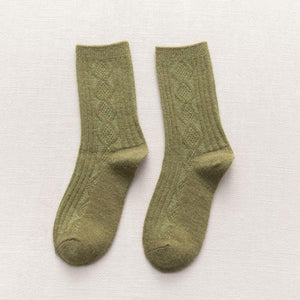 Basic Color Light Warm Soft Cozy Wool Blend Socks