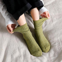Load image into Gallery viewer, Basic Color Light Warm Soft Cozy Wool Blend Socks