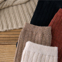 Load image into Gallery viewer, Basic Vertical Stripe Wool Blend Warm Comfy Soft Socks