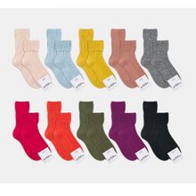 Load image into Gallery viewer, Super Warm Cozy Twist Lamb Wool Blend Basic Color Socks