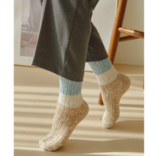 Load image into Gallery viewer, 3 Pair 3 Block Stylish Wool Cotton Blend Warm Socks