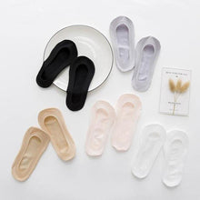 Load image into Gallery viewer, 5 pair Anti-Skid Ultra-Thin Basic NOSHOW Socks