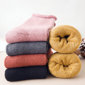 5 Pair Basic Color Loose Top Cotton Socks - MoSocks