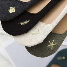 Load image into Gallery viewer, 5 pair Dream Embroidery NOSHOW Socks