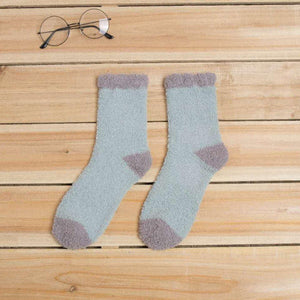 5 Pair Fluffy Fuzzy Warm Comfy Patch Indoor Socks