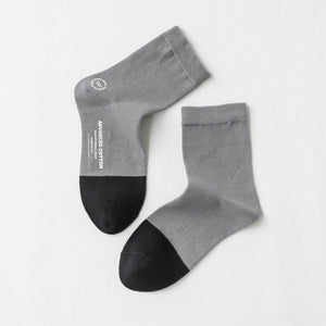 7 Pair Patchwork Cotton Blend Sports Crew Socks