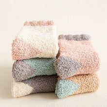 Load image into Gallery viewer, 5 Pair Fluffy Fuzzy Warm Comfy Patch Indoor Socks